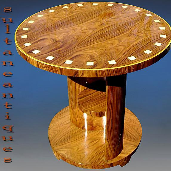 Walnut Elegant Art Deco style large side Table