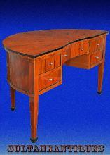 Half Moon Edwardian style Cherry wood Large desk
