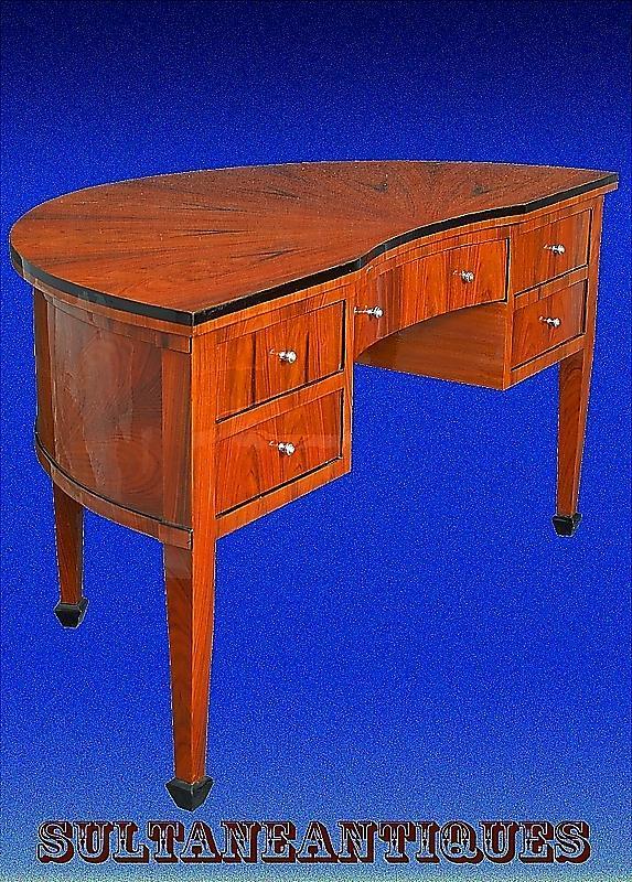 Half Moon Edwardian style Cherry wood Large desk