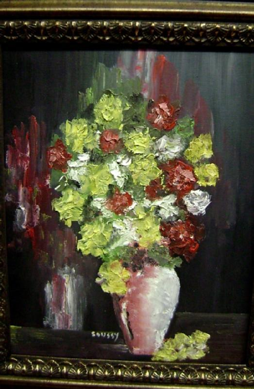 Bouquet in Pink Vase By Soussy