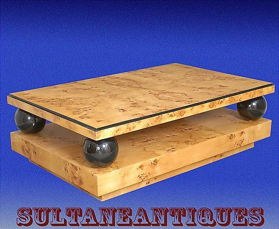 MONUMENTAL (60 inches) Elm Art Deco Coffee table