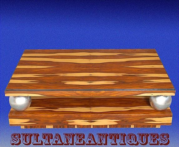 Large 60 inches Coffee Table Art Deco Exotic Rosewood