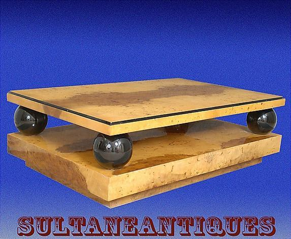 MONUMENTAL (60 inches) Olive Art Deco Coffee table