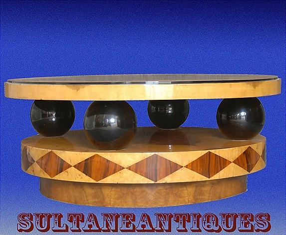 Art Deco Style Large Coffee Table Olive wood