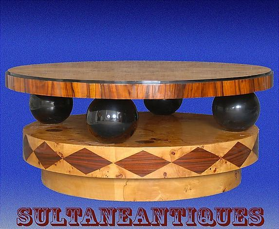 "VERY LARGE 44"" coffee table Art Deco Style"