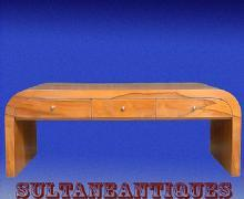 Large Cherry wood Art Deco coffee table