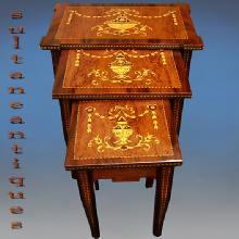 Nest of Tables in Italian Florentine 19th C. style