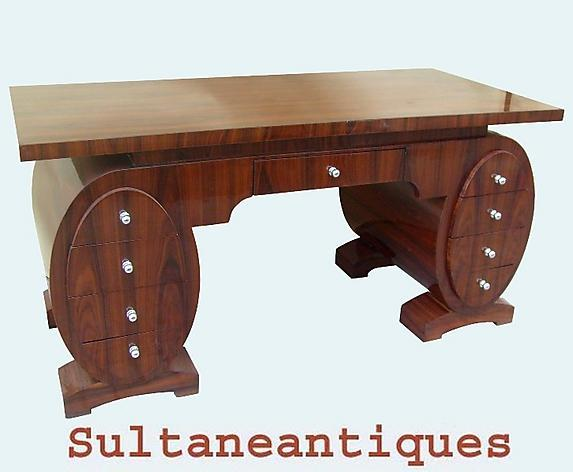 MONUMENTAL! shaped Art Deco inspired superb Desk