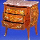 MINT Marble top marquetry Louis XV style Commode