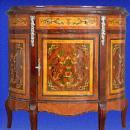 Unusual Florentine Italian Style Marquetry Sideboard