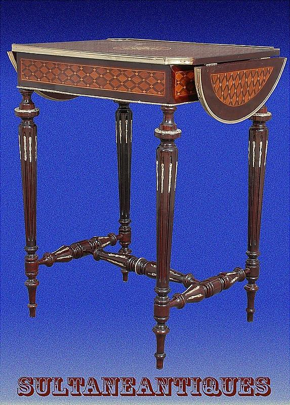 Large Louis XVI Marquetry ornate sofa table