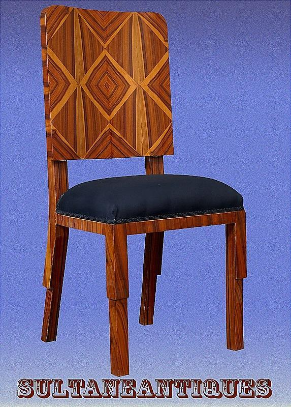 Set 8 Art Deco Chairs in shaped Rosewood
