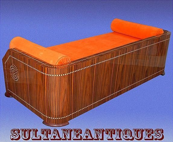 Unique Art Deco Style sofa, Ruhlman inspired