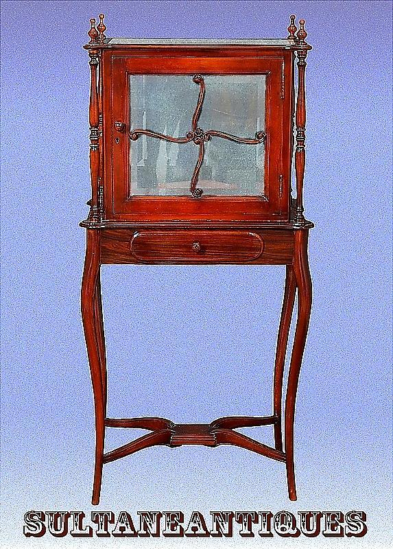 Adorable Tall display cabinet Louis-Philippe style