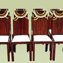 Set of eight superb Art Deco style chairs