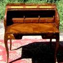 FINE Charles X style Roll top secretaire