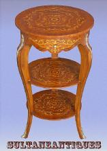 LOUIS XV Full Marquetry Occasional side table