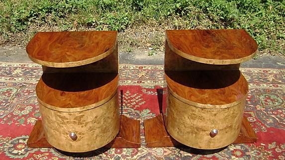 Tall VERY Large ART DECO style  Pair commodes