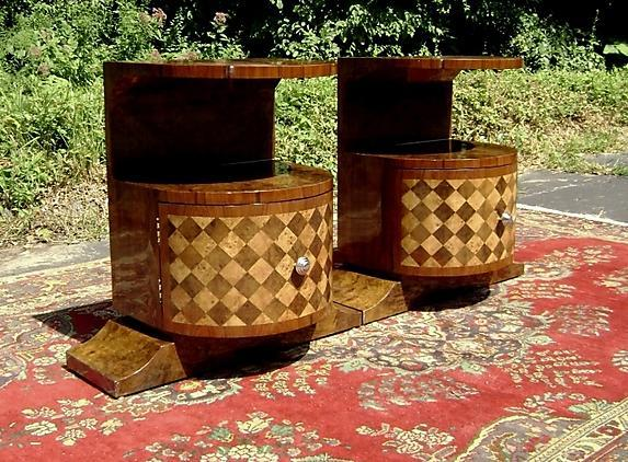 Pair of LARGE Art Deco inspired commodes