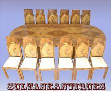 Stunning HUGE Art Deco style conference set 13 pieces!!