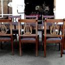9 PIECES Dining SET chippendale style solid Mahogany