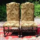 Fine quality Pair solid mahogany Victorian chairs