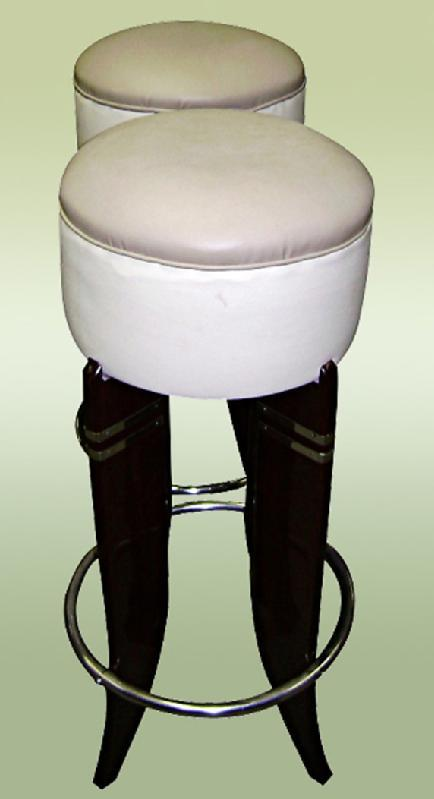 SENSATIONAL PAIR Art Deco inspired HIGH Bar stools
