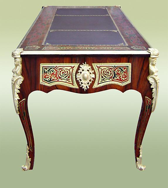 ROYAL French Louis XV Boulle Style LARGE Desk