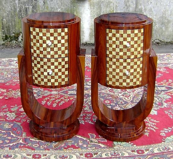 Very elegant Pair of Art Deco style commodes