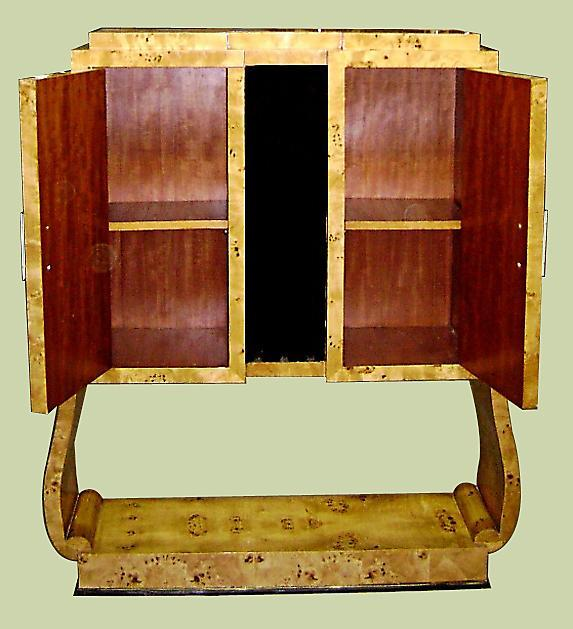 Beautiful Elm wood Art Deco style two toned Bar