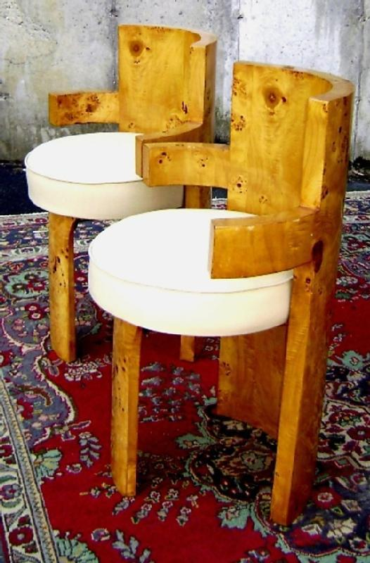 SUPERB PAIR OF quality French Art Deco style chairs