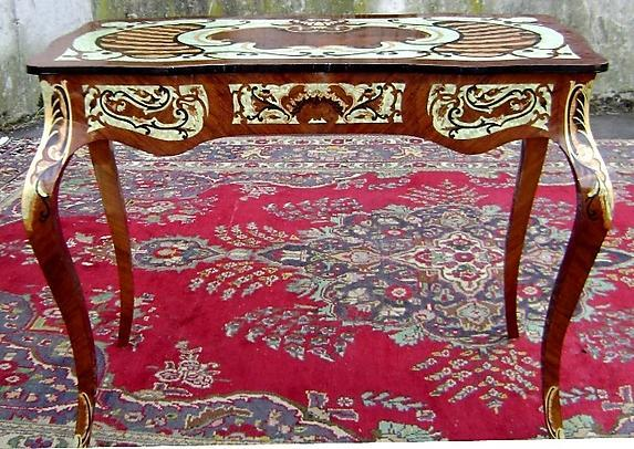 Stunning full MARQUETRY DESK Louis XV style