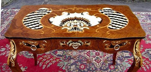 full marquetry lady's desk louis XV style