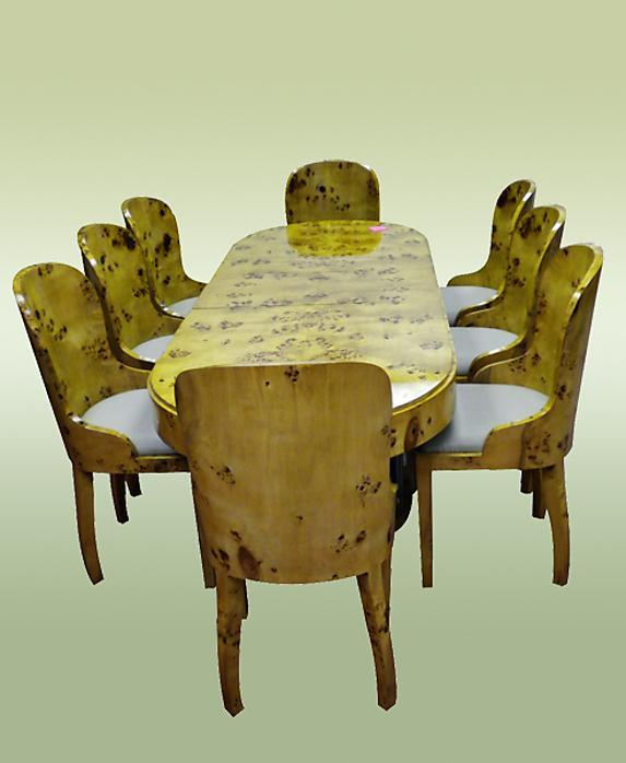 Fabulous Art Deco style Elm Wood Conference/dining set