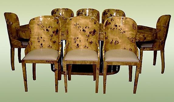 Fabulous Art Deco style Elm Wood Conference/dining set
