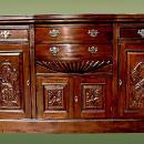 TOP quality Victorian style bow fronted sideboard