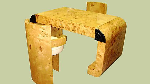 UNCOMMON!!French Elm Art Deco style desk
