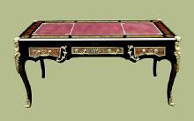 IMPERIAL!!French Louis XV Boulle Style LARGE Desk