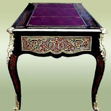 QUALITY Louis XV Boulle Style inlaid LARGE Desk