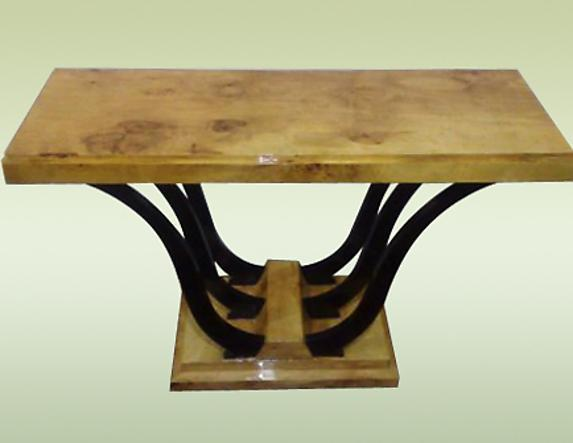 uniquely designed two toned Art Deco style console