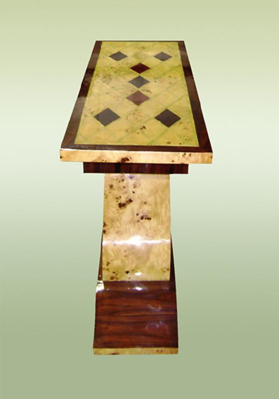 Perfect Art Deco style console with geometric lines