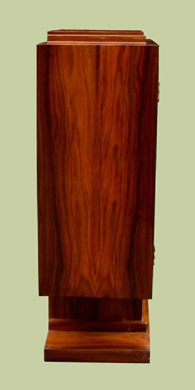 Amazing Art Deco style Bar rosewood and birds eye maple