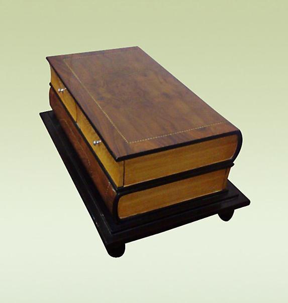 HOTTEST unusual Bookshaped Art Deco coffee table