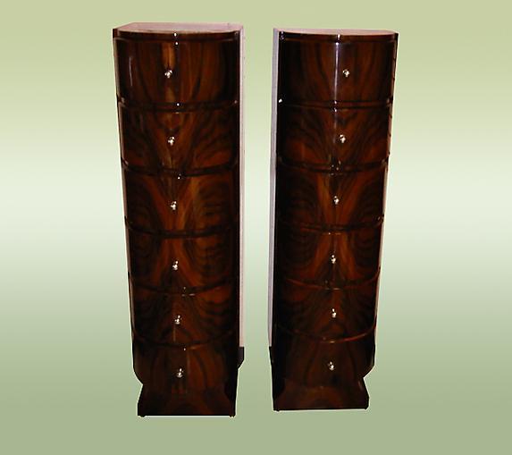Fabulous Pair walnut High Chiffoniers Art Deco style
