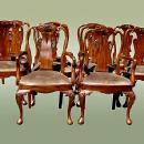 High End SETof  TWELVE 10+2 Queen Anne chairs
