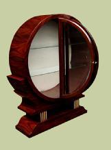 STUNNING Round Art Deco inspired cabinet