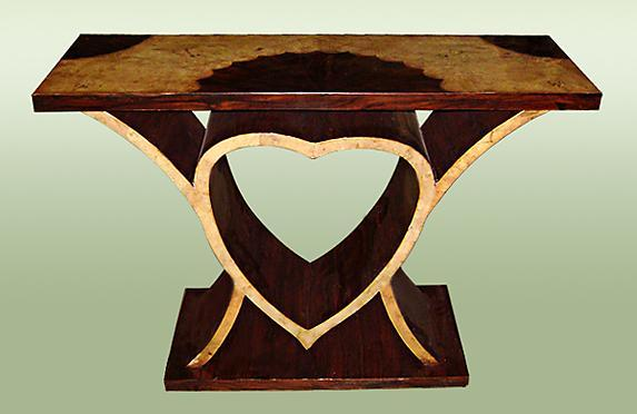 Art Deco Style Heart Shaped Console