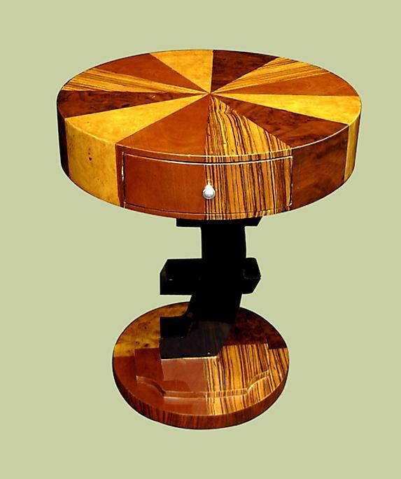 UNUSUAL Art Deco style side table.