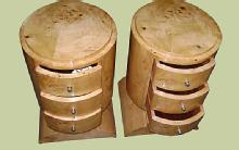 Superb Pair of Art deco style Elm woodl commodes