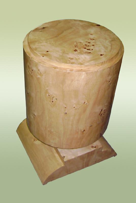 Elegant Art deco style French Elm wood commode